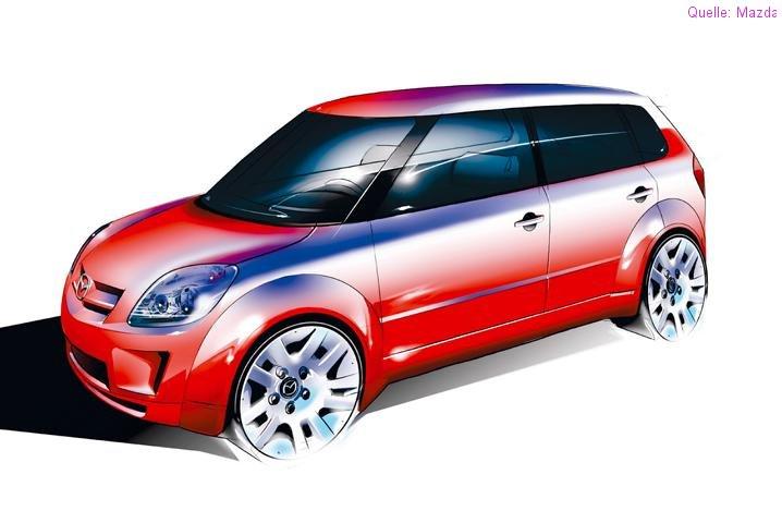 2004 Mazda Mxmicro Sport Concept. untypisch für Mazda mit